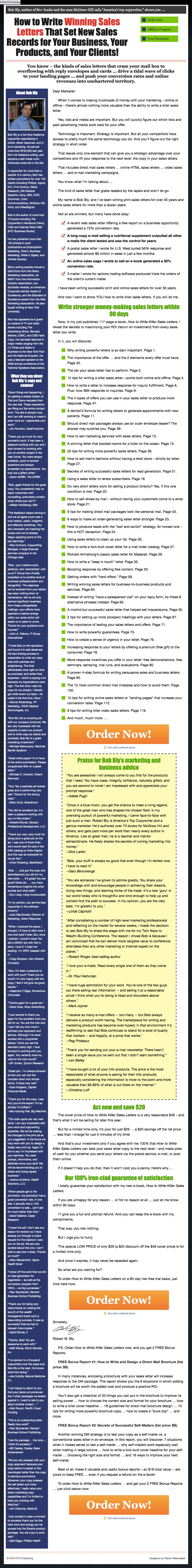 Bly-How to Write Killer Sales Letters