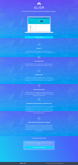 Glide Launch Page