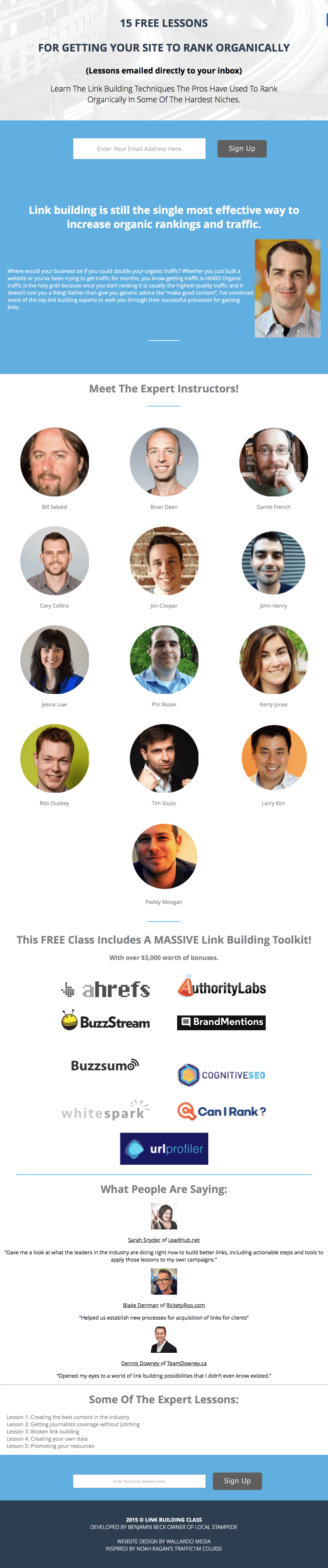 Link Building Class
