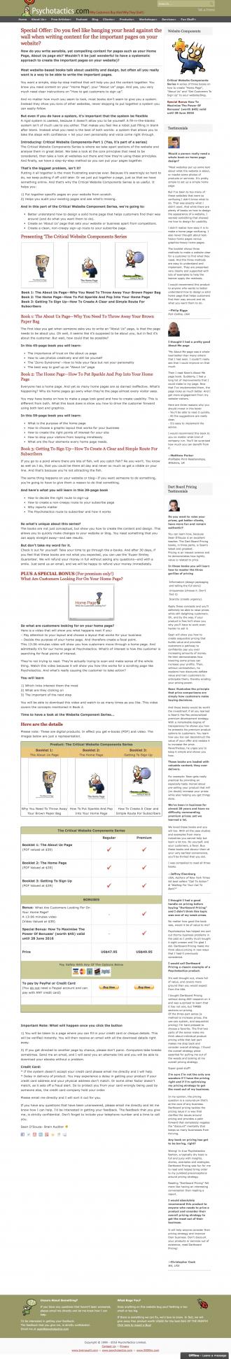 Psychotactics Webpages