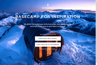 Huckberry Squeeze Page
