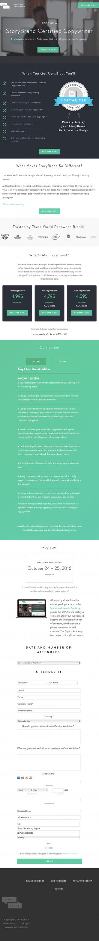 Storybrand Copywriter