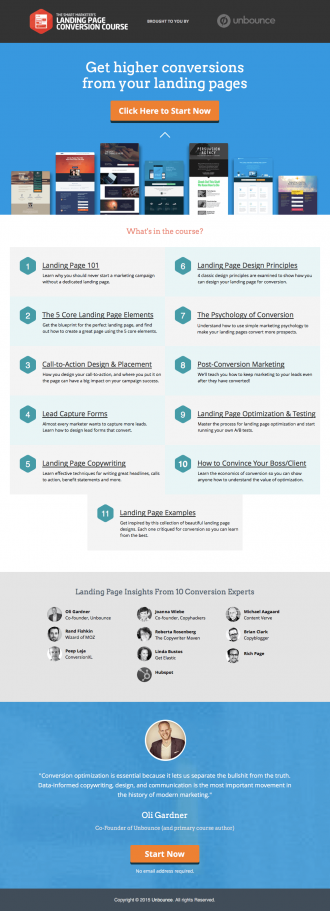 The Landing Page Course