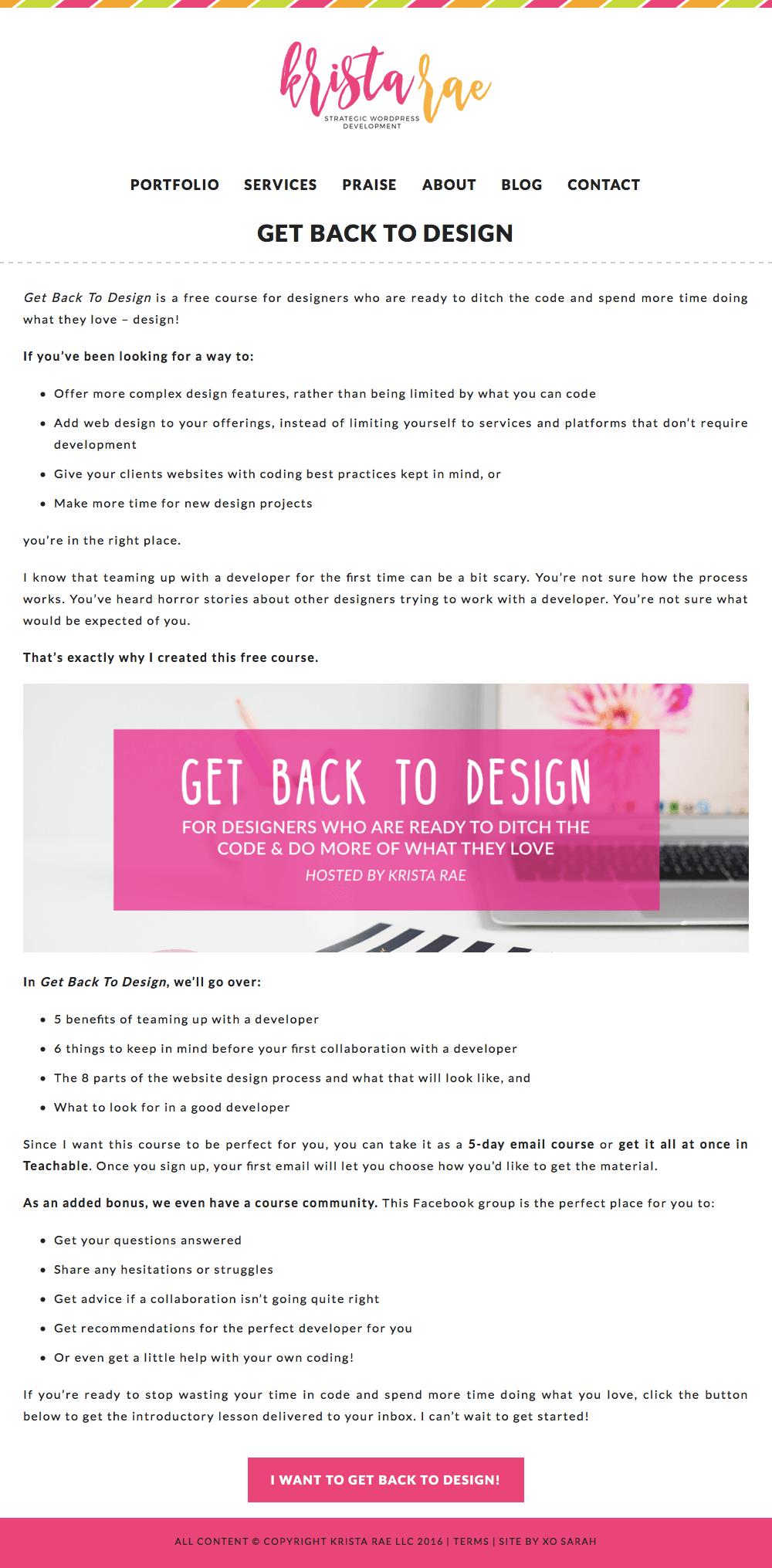 Get Back to Design