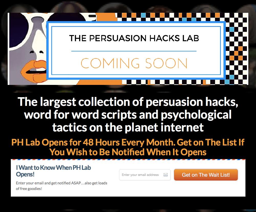 Persuasion Hacks Lab
