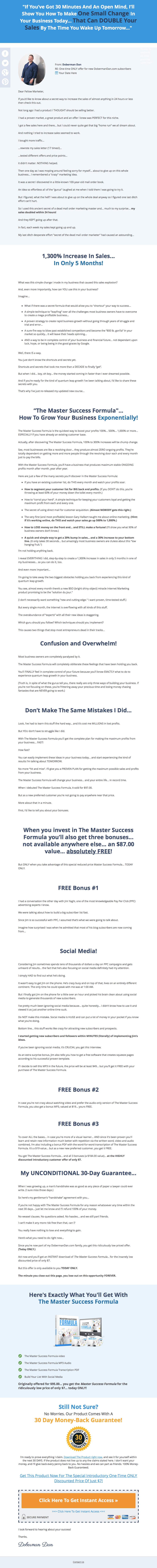 Master Success Formula